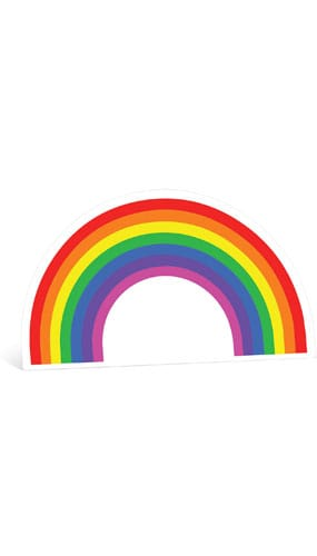 Rainbow Cardboard Cutout - 93cm Product Gallery Image