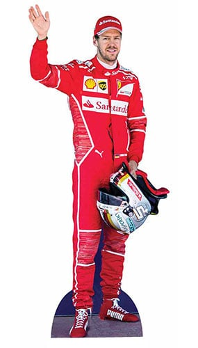 Sebastian Vettel Lifesize Cardboard Cutout - 183cm Product Gallery Image