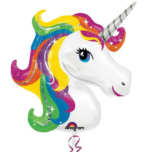 Unicorn Helium Foil Giant Balloon 83cm / 33 in