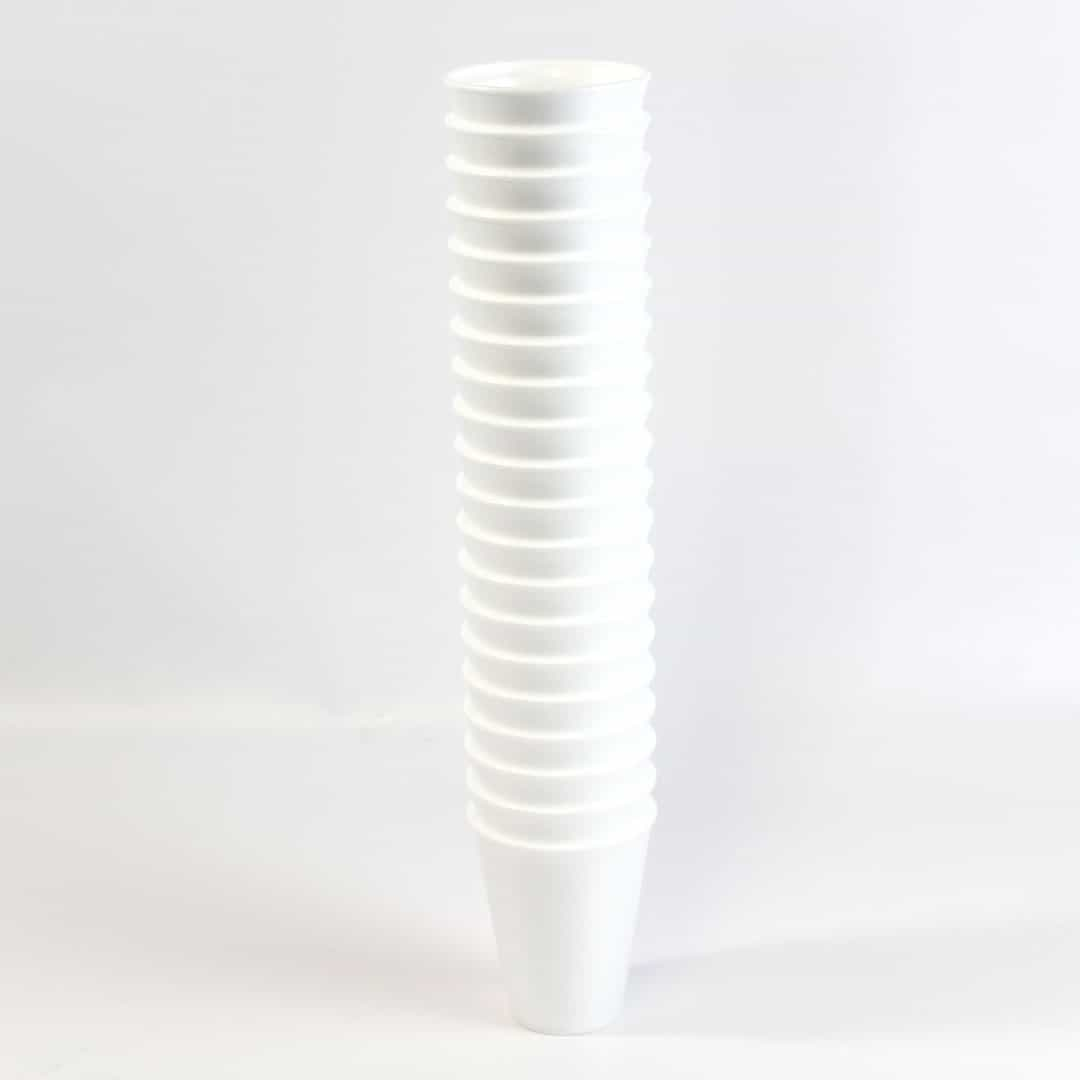 White Poly Cups 295ml Pack of 20