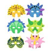 Assorted Dinosaur Foam Masks – Pack Of 6