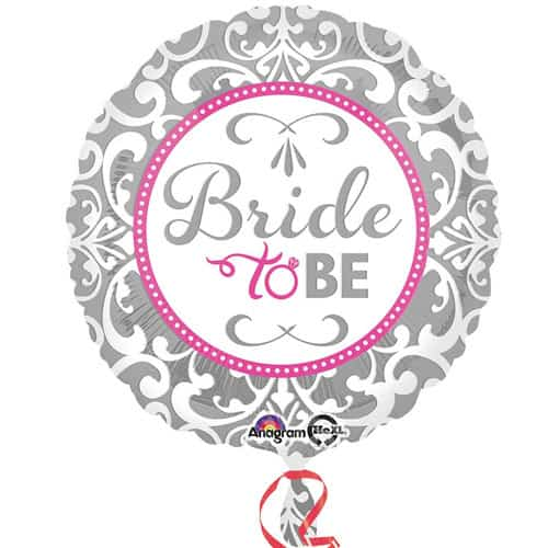 Bride To Be Round Foil Helium Balloon 43cm / 17Inch