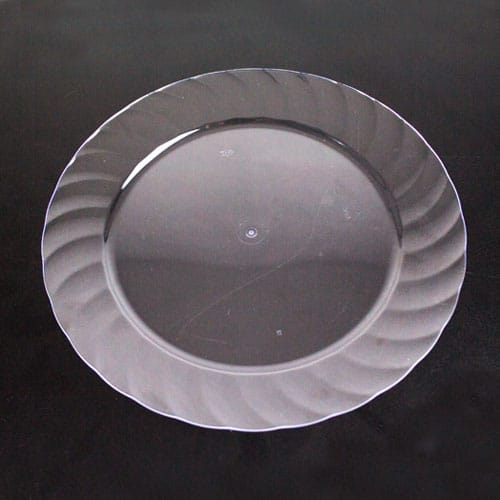 Clear Round Plastic Plate 23cm Product Image
