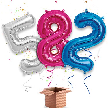 Giant Number Balloon In A Box Category Image