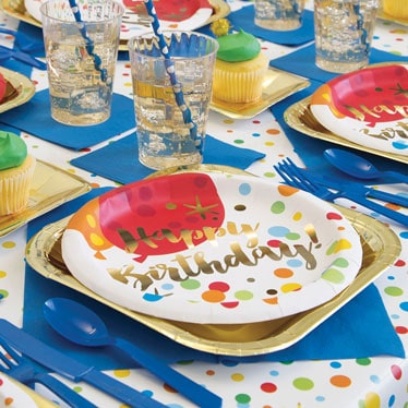 Glitzy Gold Birthday Party Supplies Category Image