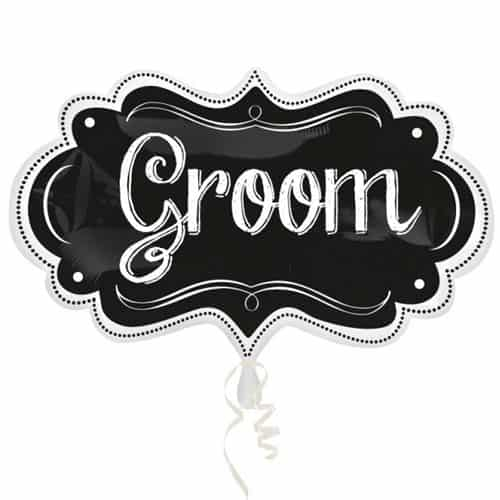 Groom Chalkboard Helium Foil Giant Balloon 68cm / 27 in Product Image