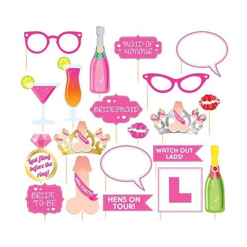 Hen Night Party Prop Accessories Pack Of 20