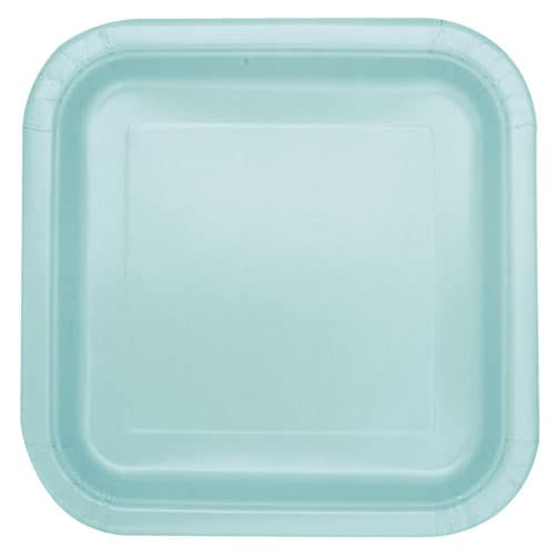 Mint Square Paper Plates 22cm - Pack of 14