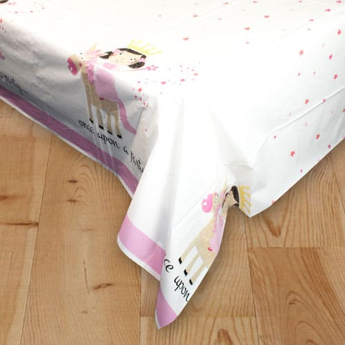 Princess and Unicorn Plastic Tablecover 213cm x 137cm