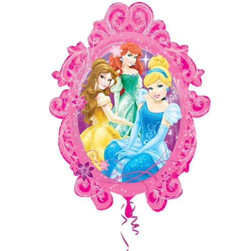 Princesses In Frame Supershape Foil Helium Balloon 63cm / 25Inch