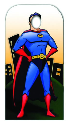 Superhero Stand In Cardboard Cutout - 183cm Product Gallery Image