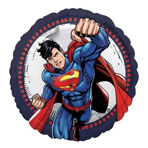 Superman Round Foil Helium Balloon 43cm / 17Inch