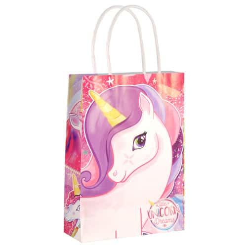 Unicorn Paper Bag With Handles 21cm