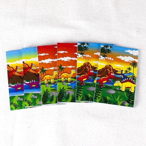 Assorted Dinosaur Mini Notebooks - Pack of 6 Product Image