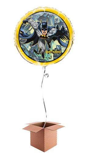 Batman Round Foil Balloon - Inflated Balloon in a Box