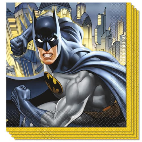Batman Luncheon Napkins 33cm 2Ply Pack of 16