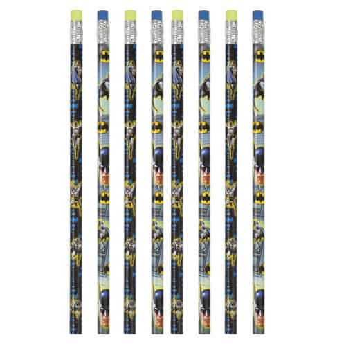 Batman Pencils with Erasers - Pack of 8