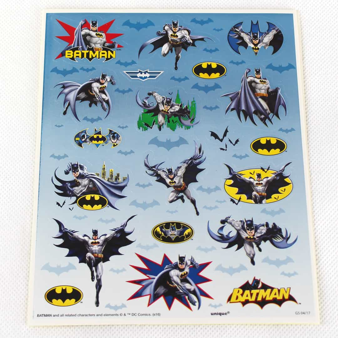 Batman Sticker Sheets - Pack of 80