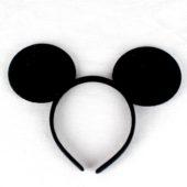 Black Mouse Ears Headband
