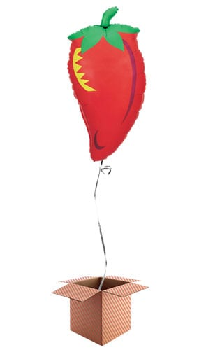 Chilli Pepper Helium Foil Giant Balloon - Inflated Balloon in a Box