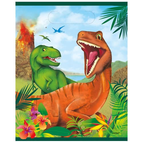 Dinosaur Fun Loot Bags - Pack of 8 Product Image