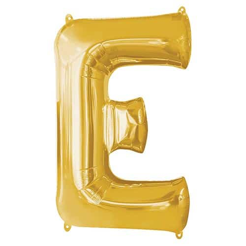 Gold Letter E Supershape Foil Helium Balloon 81cm / 32Inch Product Image