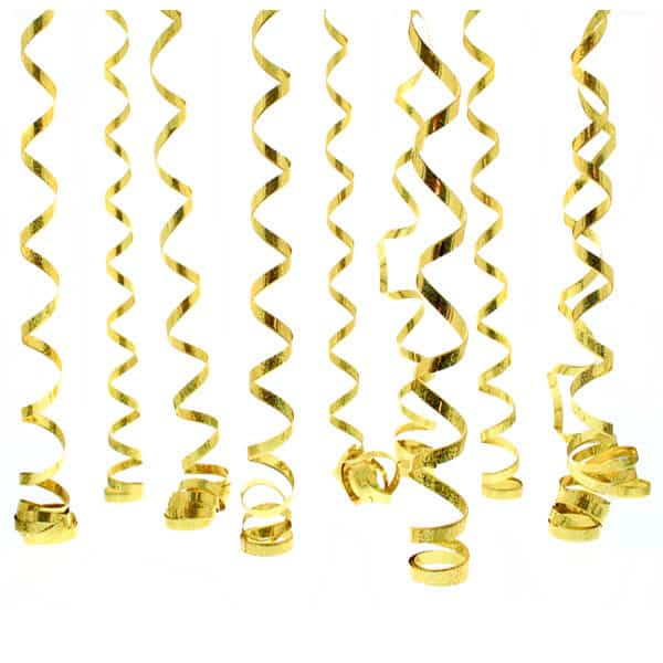 Gold Prismatic Serpentines 10 Throws Product Image