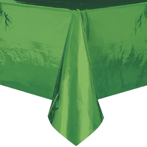 Green Foil Tablecover 274cm x 137cm