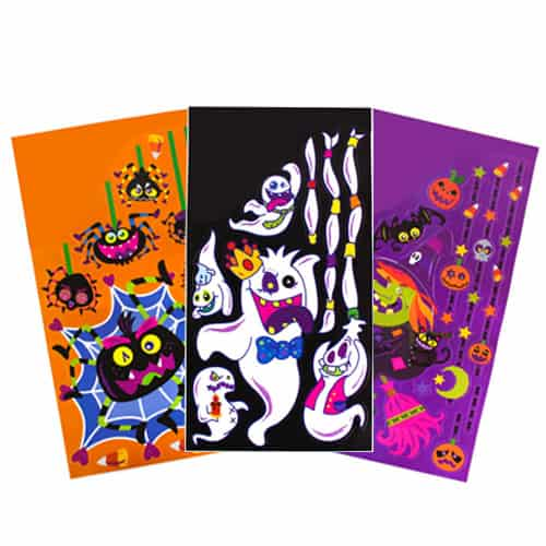 Halloween jumbo glitter window stickers product image