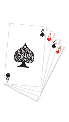 Hand of Cards Lifesize Cardboard Cutout 152cm Product Gallery Image
