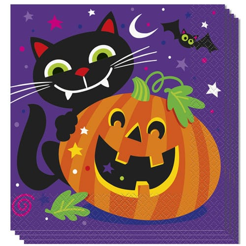 Happy Halloween Luncheon Napkins 2Ply 33cm Pack of 16 Bundle Product Image