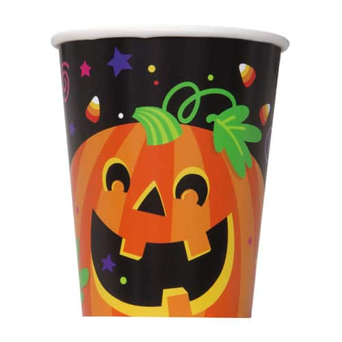 Happy Halloween Paper Cups 270ml - Pack of 8
