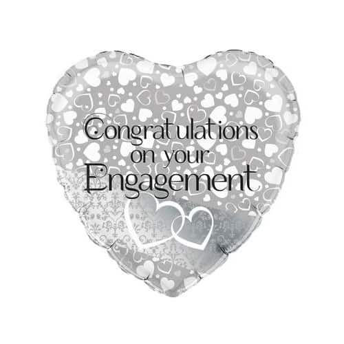 Hearts Engagement Foil Helium Balloon 46cm / 18Inch