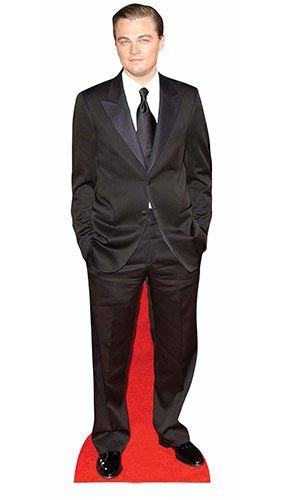Leonardo DiCaprio Black Suit Lifesize Cardboard Cutout 183cm Product Gallery Image
