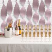 Lovely Pink Tissue Fringe Garland 274cm