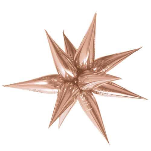Rose Gold 3D Star Foil Balloon 70cm / 28Inch