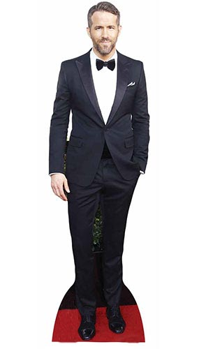 Ryan Reynolds Black Suit Lifesize Cardboard Cutout 188cm Product Gallery Image
