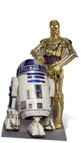 Star Wars R2-D2 and C-3PO Lifesize Cardboard Cutout 166cm Product Gallery Image