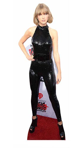 Taylor Swift Black Catsuit Lifesize Cardboard Cutout 179cm Product Gallery Image