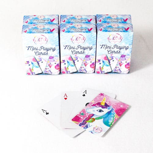 Unicorn Mini Playing Cards - Pack of 6 Product Image