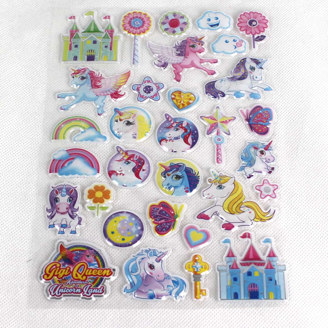 Unicorn Assorted Vinyl Puffy Stickers