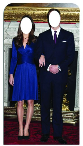 Will and Kate Stand In Cardboard Cutout 189cm Product Gallery Image