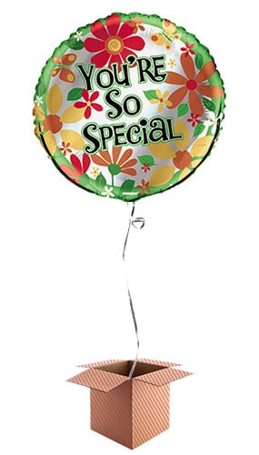 You re So Special Round Foil Balloon - Inflated Balloon in a Box