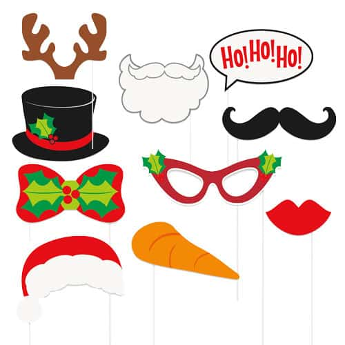 Christmas Photo Props - Pack of 10