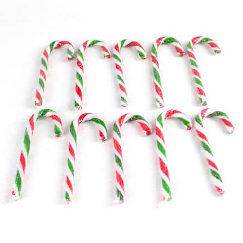 Christmas Peppermint Candy Canes - Pack of 10 Product Gallery Image