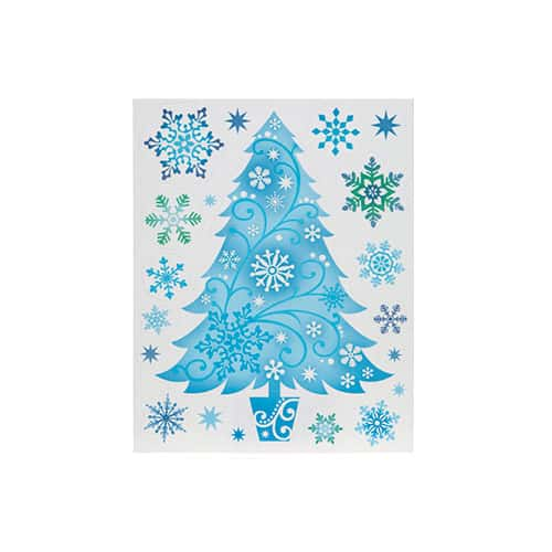 Assorted Christmas Blue Glitter Window Stickers Product Gallery Image