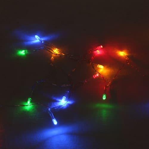 20 Multi-Coloured Battery Operated Christmas Led Lights