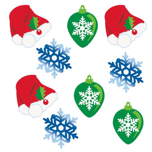 Christmas Confetti Cutouts - Pack of 24