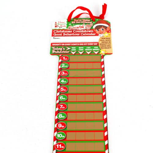 Elf Scratch Off Countdown Advent Calendar 52cm Product Gallery Image