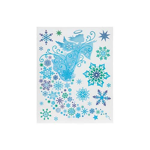 4asstd christmas glitter window stickers product image